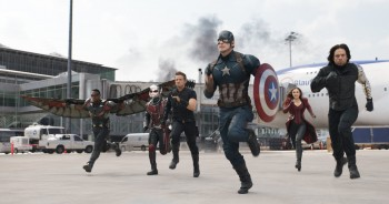 Captain America Civil War Team Cap attacking