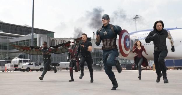 Captain America Civil War Team Cap attacking