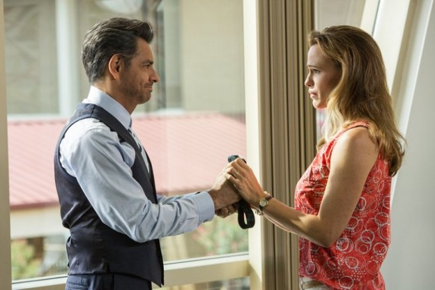 "Eugenio Derbez and Jennifer Garner in ""Miracles From Heaven"""