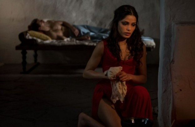 Freida Pinto in Immortals with Henry Cavill