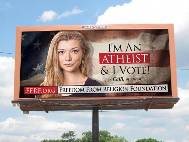 freedom from religion billboard Wisconsin voting