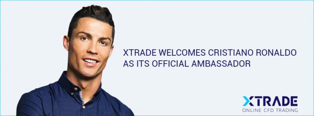 Cristiano Ronaldo Xtrade announcement banner photo