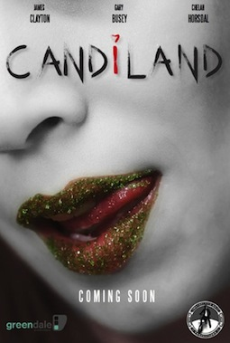 candiland movie poster starring gary busey