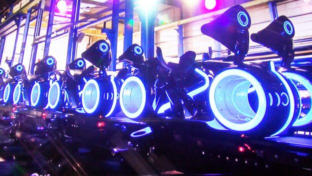 Tron ride at Disneyland Shanghai