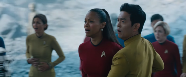 star-trek-3-beyond-image-cast on ice planet Zoe Saldana John Cho