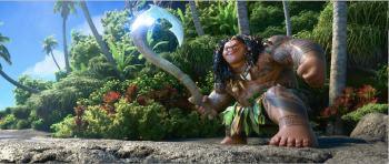 Dwayne JOhnson as Maui in Moana