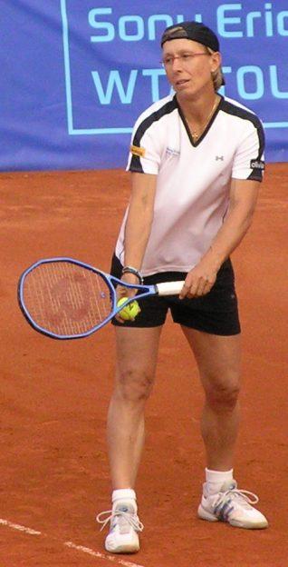 Martina Navrátilová at Prague Open 2006 photo/ Michal.Pohorelsky via wiki