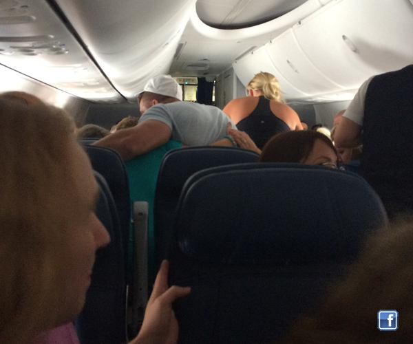 Tim Tebow prays and supports family during emergency on airplane  photo/ Facebook