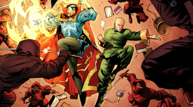 Strange and Wong battling in Marvel Comics
