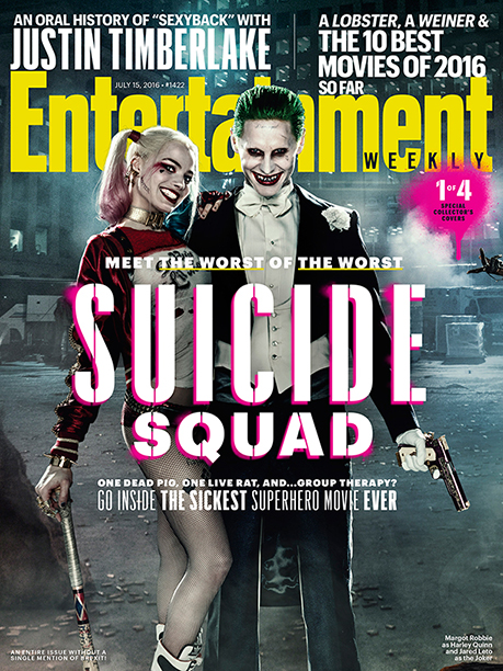 EW Cover Harley Quinn JOker Margot Robbie Jared Leto cover