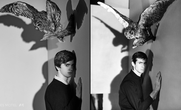 Freddie Highmore Bates Motel season 5 promo photo Anthony Perkins Psycho pic