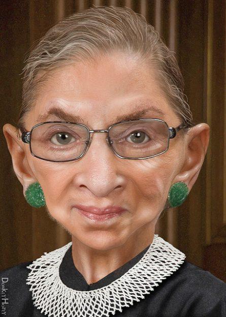 Ruth Bader Ginsburg donkeyhotey photo