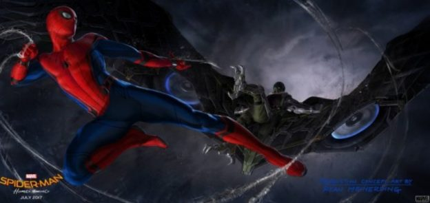 Spider-Man vs Vulture in promo photo Spider-Man Homecoming