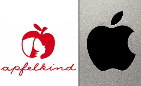 Apfelkind Logo vs Apple logo