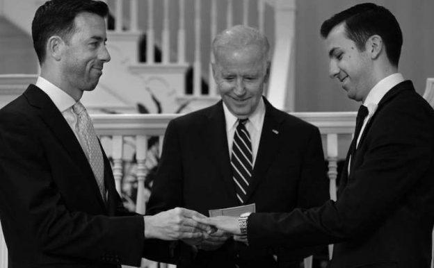 Joe Biden presides over gay marriage ceremony