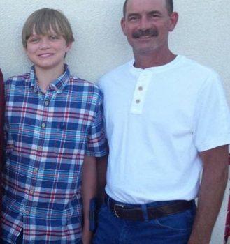 Jesse Osborne with his dad, Jeffrey