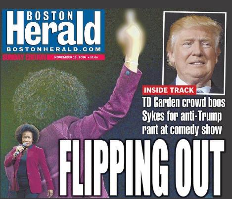 Wanda Sykes got booed after her Donald Trump insults  photo/Boston Herald
