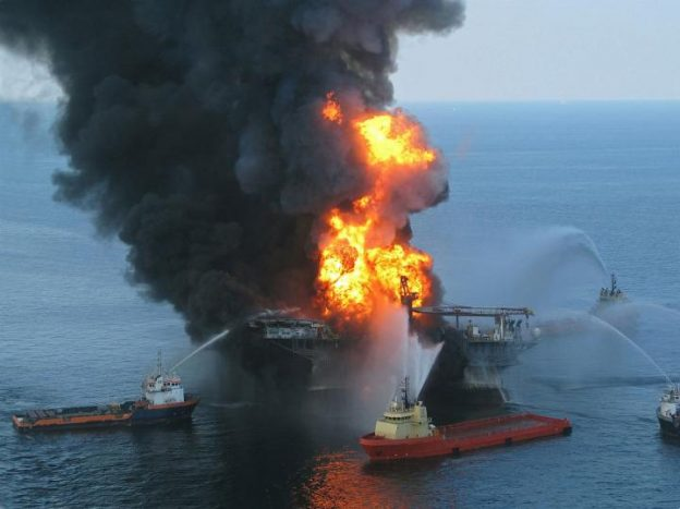 BP Deepwater horizon oil spill fire