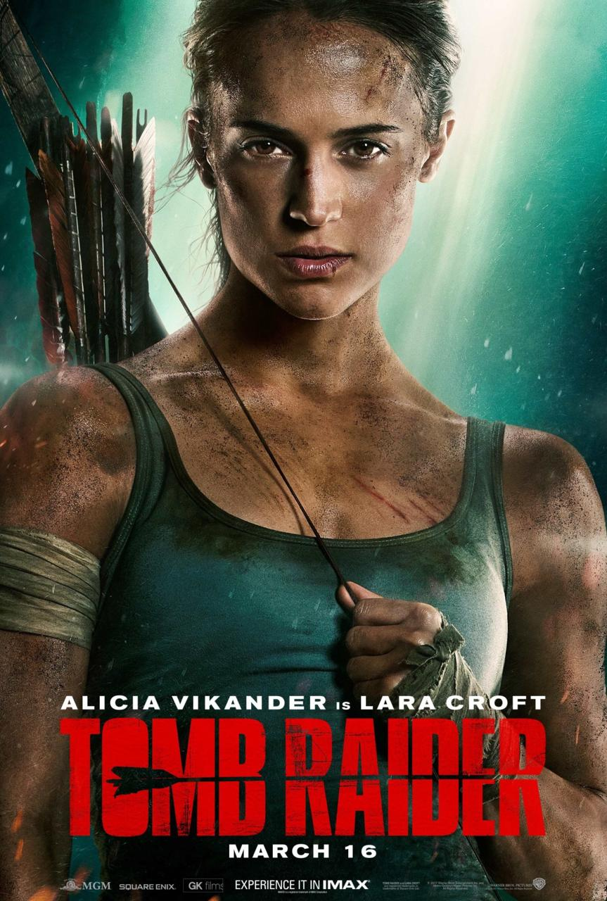 Tomb Raider Trailer Photos Poster Alicia Vikander