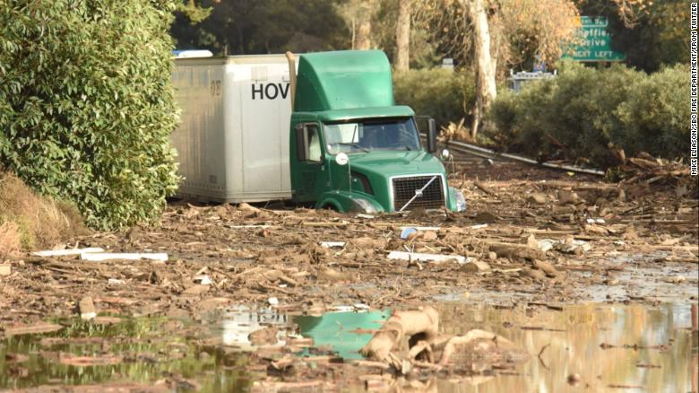 California Mudslides Leave 13 Dead Hundreds Trapped In