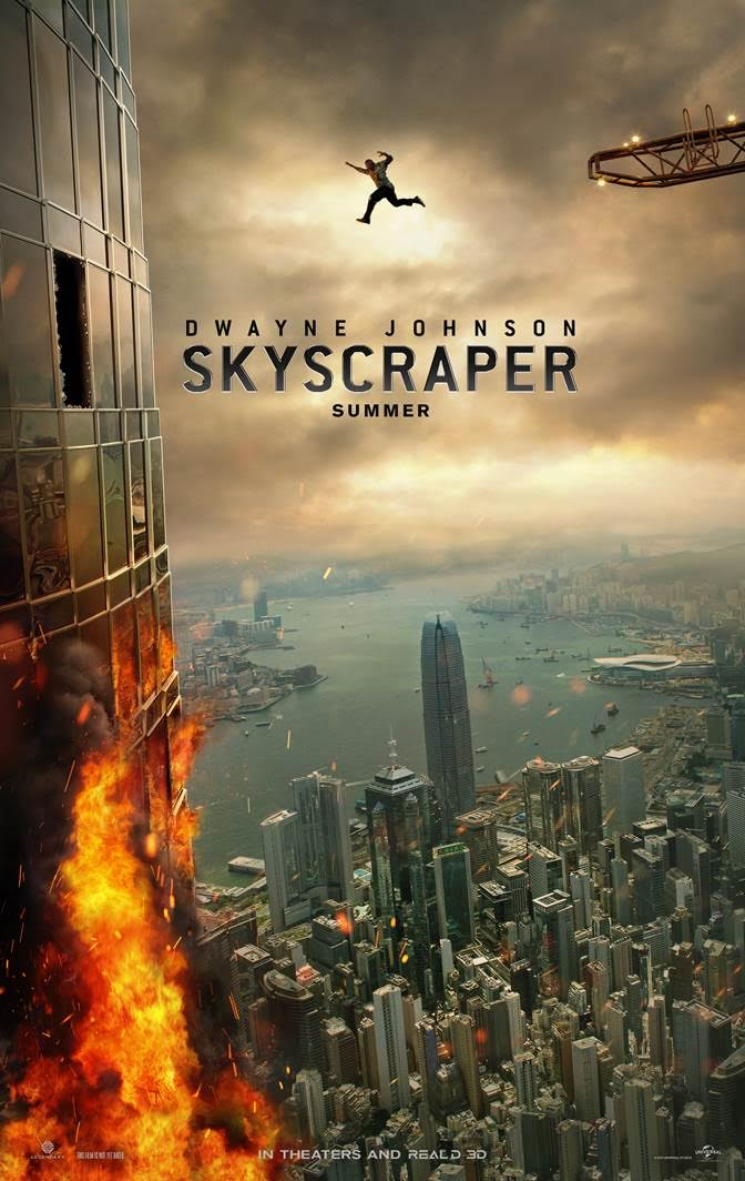 Dwayne Johnson  U0026 39 Soars U0026 39  In  U0026 39 Skyscraper U0026 39  Movie Poster