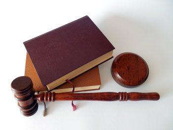 hammer gavel law books legal