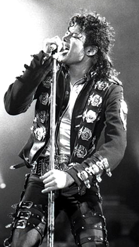 Michael Jackson tour photo 1988