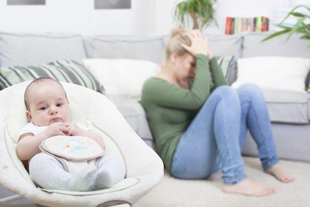 postpartum depressed woman