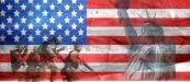 patriotism soldiers US flag